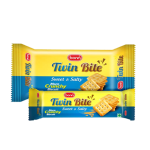 Twin bite biscuits