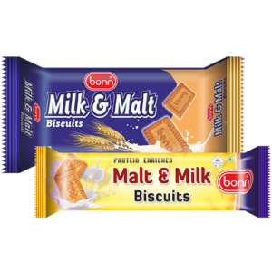 Milk and malt biscuits