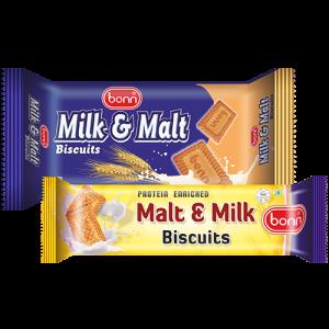 Milk and malt biscuits