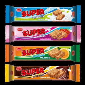 different flavor cream biscuit