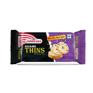 Americana thins sesame biscuit